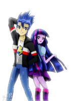 Flash Sentry and Twilight Sparkle by jotakaanimation