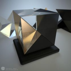 Cube dissection by zipper
