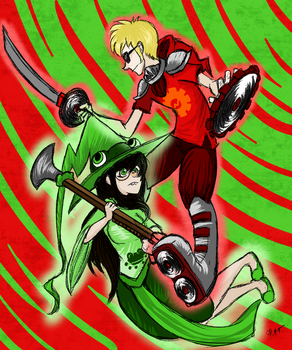 The Witch and the Knight by CupCakeKyo