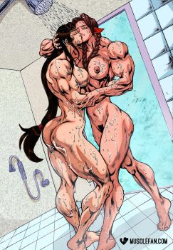 Female Muscle Growth Materia 2 by muscle-fan-comics