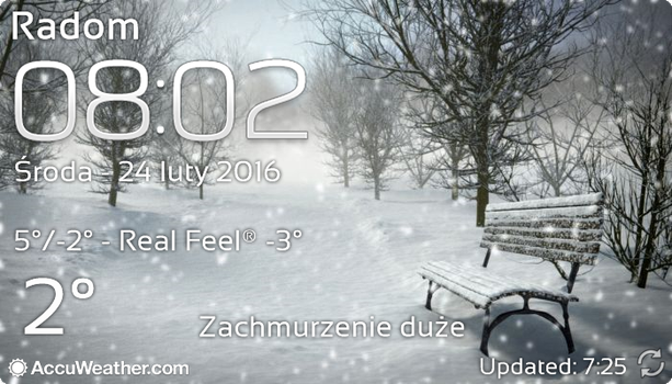 Real Sky Weather Widget and Clock ver 3 [UPDATED] by Slavoo123