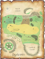Map of Dyrtemis (english) by Artandcreation4you