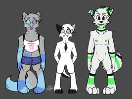 Furry Lineup 1 by PrincessRaevinFlash
