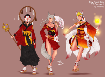 Fox Spirit Isis - T5 Skin Concept by BookmarkAHead
