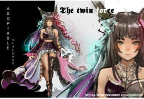 Auction Adoptable the twin force  [ CLOSE ] by Olalehee