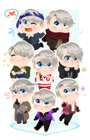 The Many Faces of Victor Nikiforov by CubedCake