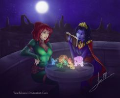 Izzalia And Arminia play holo chess by AndronicusVII