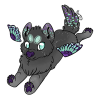 Sparkle Winged Wolf by Creamy-Galaxies