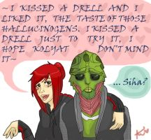 I kissed a drell by Ayame1014