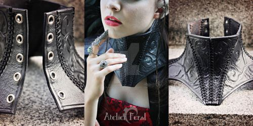 Thorn Neck corset by Feral-Workshop
