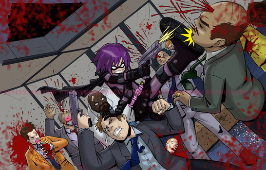 Hit-Girl Blood Frenzy by sykoeent