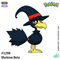 Murkrow Beta by Urbinator17