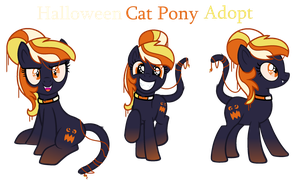 Candycorn Cat Pony - Offer To Adopt - SOLD by MonkFishyAdopts