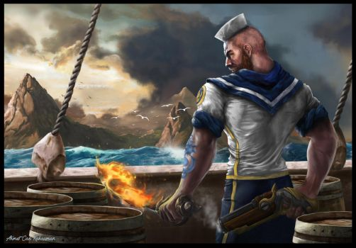 Sailor Gangplank Fan Art by AhmetCanKahraman