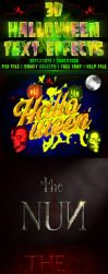3D Halloween Text Effects by Ejdesign91