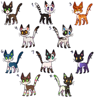 Cat Hoard! [Adopts-Open!!] by goatlet