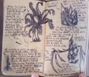 Plants, Aspects and Bloodstone (Diary 21) by Dr4wner