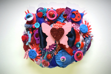 Love For Art Brooch by RibbonsandClay