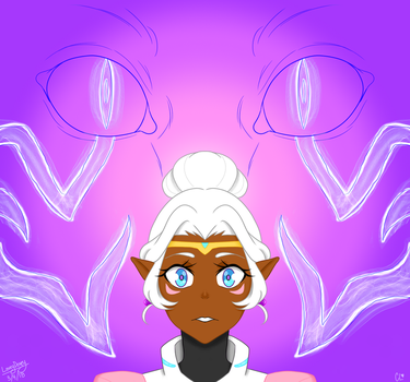 Allura - The White Lion by loveydoveyartist