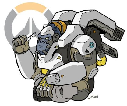 Winston, from Overwatch by JoelRCarroll