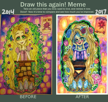 Draw this again (Rapunzel) by WizardKitMagic