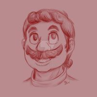 Mario sketch by Sekhmet17