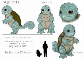 Squirtle Reference Sheet by JoshuaDunlop