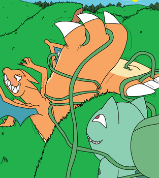 Charizard's Vine Tickles by TacTheGhost