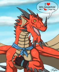 I Heart Red Dragons by TargonRedDragon
