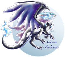 Suicune X Mega Charizard X REMAKE by Seoxys6
