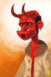 Sketch Dailies: Hellboy by TimBeard