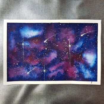 Blue/Purple Galaxy by Albiona