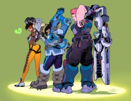 Overwatch (Color) flats by danimation2001