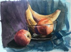 Fruits Still Life by little-corvidae