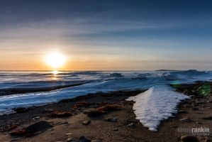 Snow Drifts and Sunsets by steverankin