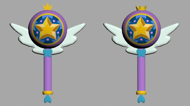 [OBJ/MAX] Star Butterfly/Royal Magic Wand DL by Star-Butterfly