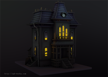 3D | Cartoon haunted house by SpanishPandaHero