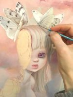 Painting today by camilladerrico