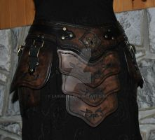 leather armor belt assy