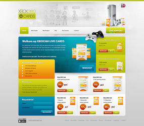 XBOX360LIVE Shop design by PaulNLD