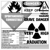 Danger Signs Brushes by Scully7491