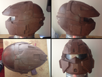 PROP MAKING - Halo 3 Rogue Helmet 06 by VR-Robotica