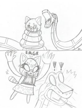 Kaa and Retsuko Sketch by lol20