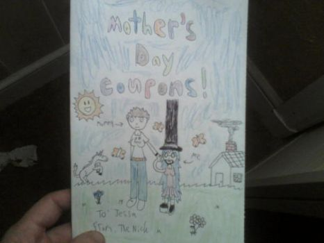 Mother's Day card/coupon book cover by NickBate