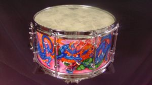 029 Dragon custom snare drum by InVistaArts