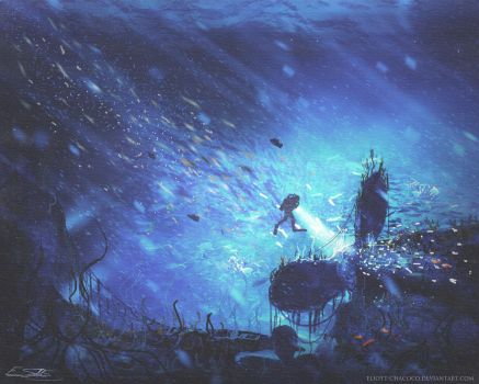 Wreck of the Britannic by Eliott-Chacoco