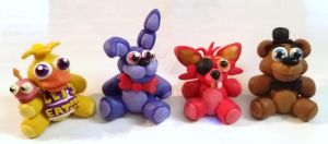 FNAF Plushy miniatures by TerraLove