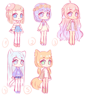 closed adopts  [reuploaded] by Seraphy-chan