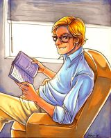 Hot Guy Reading A Book by CapnFlynn