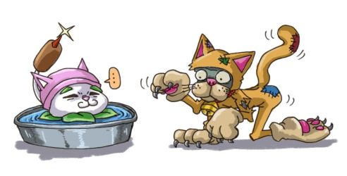 Cat Days by RedSheep13